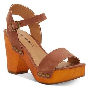 Lucky Brand Trisa Wood Sandals
